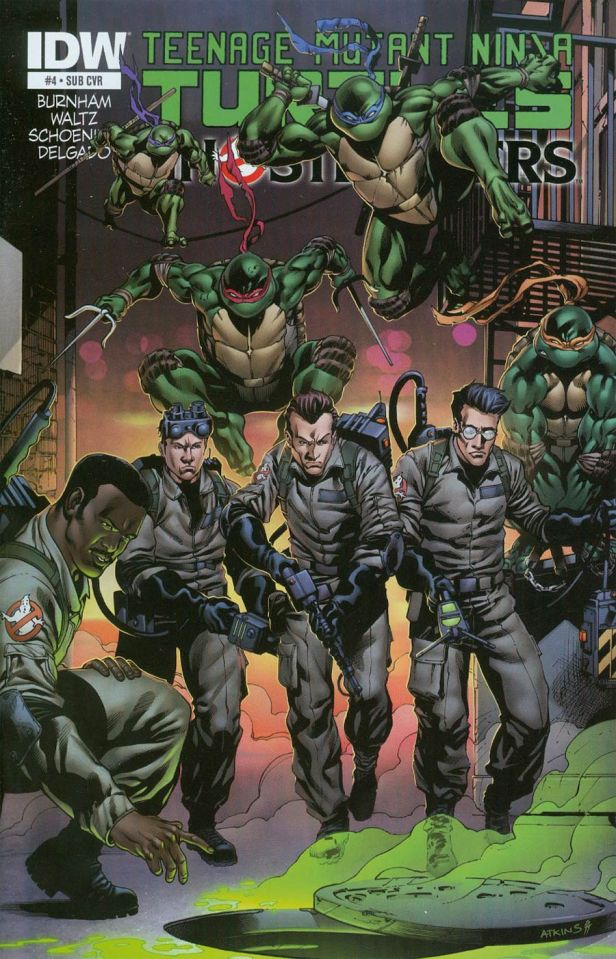 Teenage Mutant Ninja Turtles Ghostbusters #4 Cover B Variant Robert Atkins Subscription