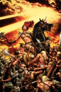 Red Sonja Vultures Circle #4 High-End Jay Anacleto Virgin Art Ultra-Limited Variant