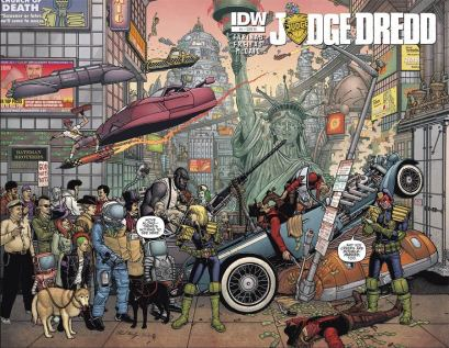 Judge Dredd Vol 5 #1 Incentive Paul Hanley Wraparound Variant