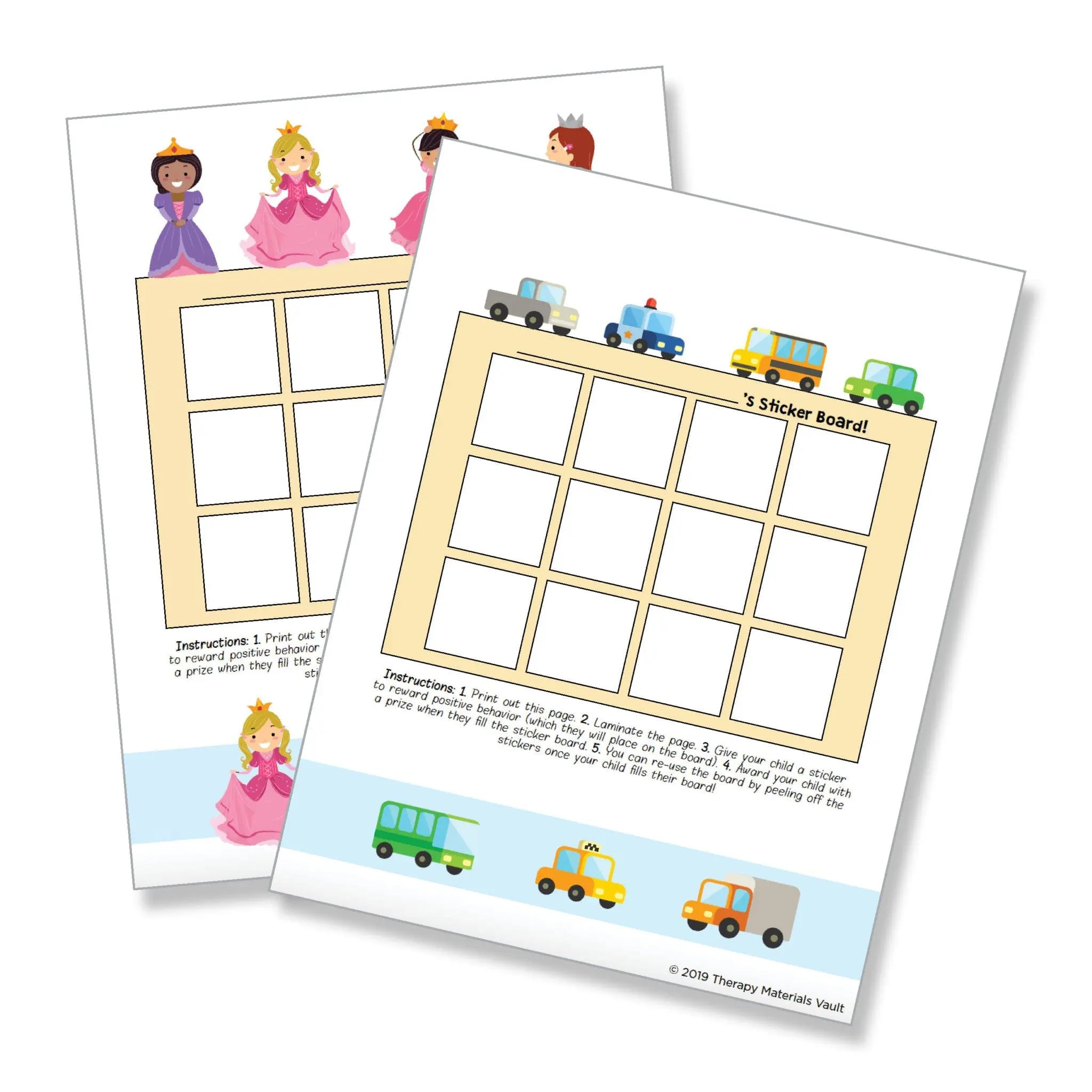 Sticker Board Collection - 8 Themes Included | TMV