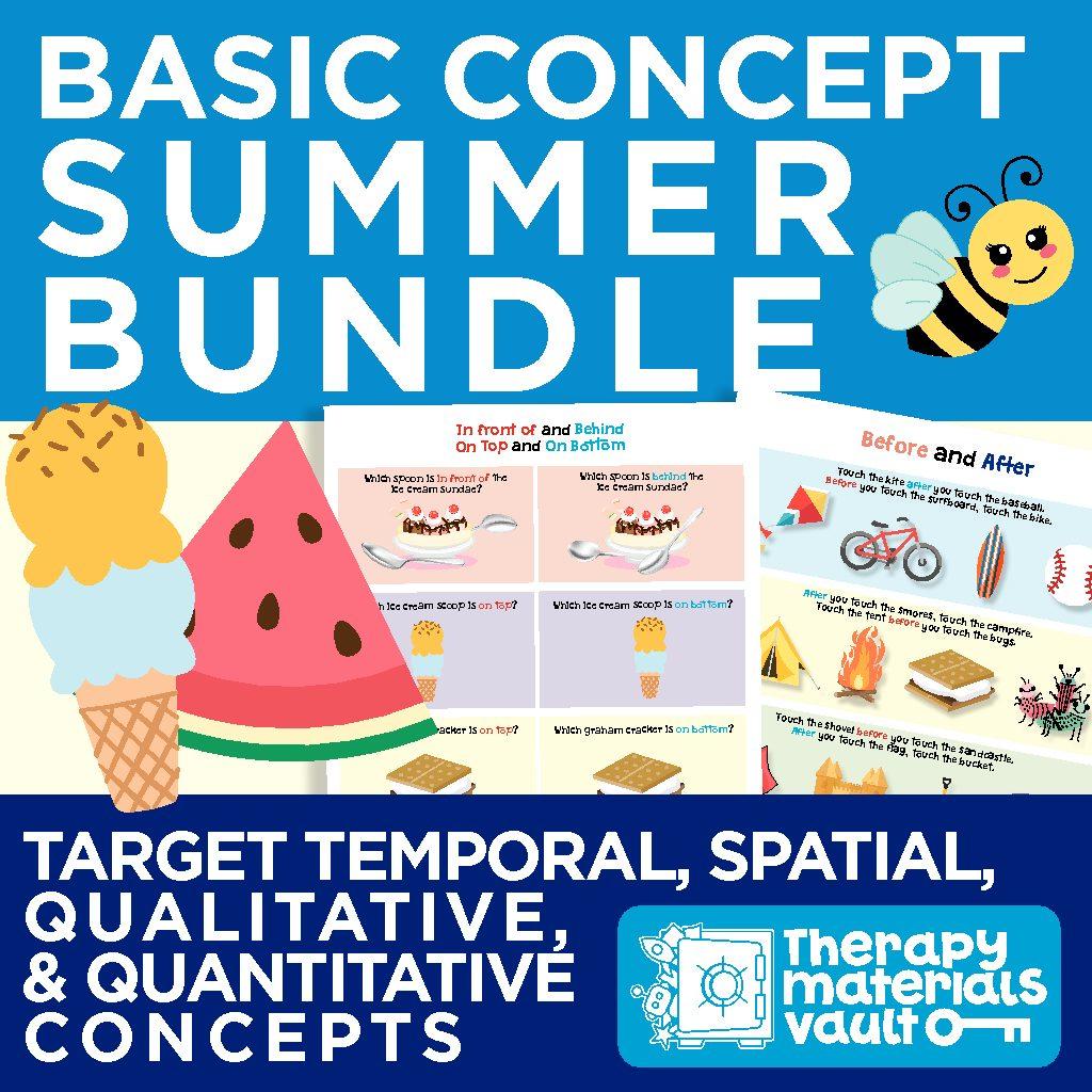 Basic Concept Summer Bundle Target Temporal Spatial Qualitative And Quantitative Concepts