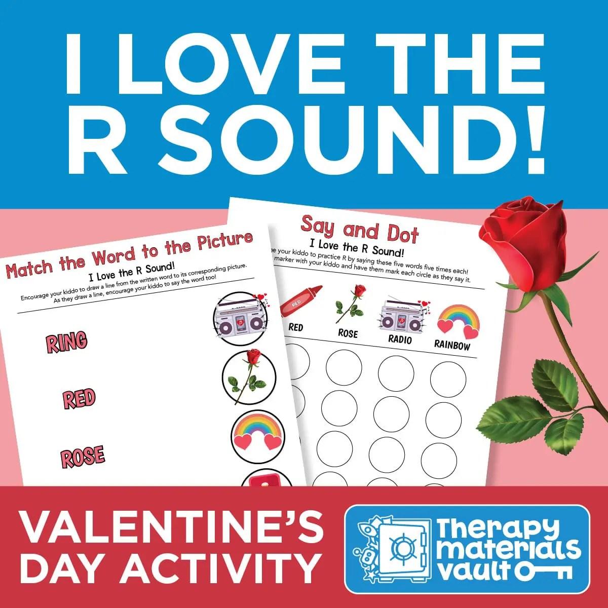 I Love The R Sound Valentine S Day Activities
