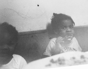 Chantoll and her sister at a young age.