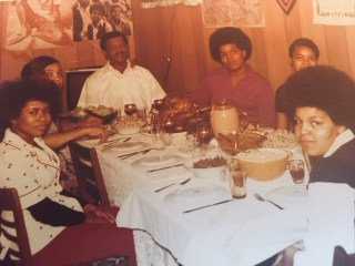 Dinner at Chantoll's house growing up.
