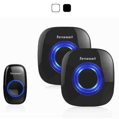 Tenswall Portable Wireless Doorbell Kit, 52 Chime Tones Operatin