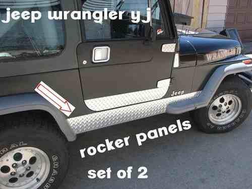 """Jeep Yj Diamond Plate Side Rocker Panel 6"""""""