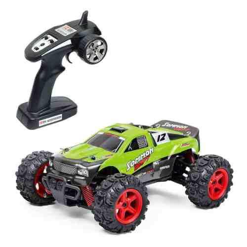 Metakoo RC Car Off Road High Speed 40km/h 1:24 Scale 50M Remote Control 40mins Playing Time 4WD 2.4GHz Electric Vehicle with Rechargeable Battery (Charger Included) - Green