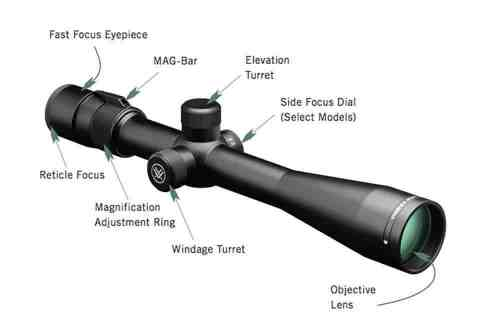 Vortex Optics Viper 6.5-20x50 PA Mil Dot Reticle- 30mm Tube