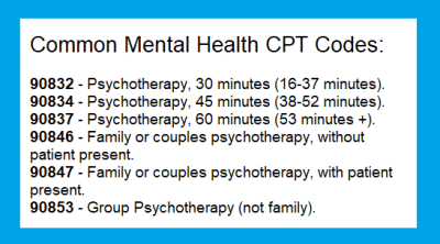 common mental health cpt codes