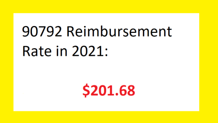 90792 reimbursement rate 2021