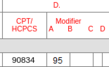 cpt code 90834 for telehealth