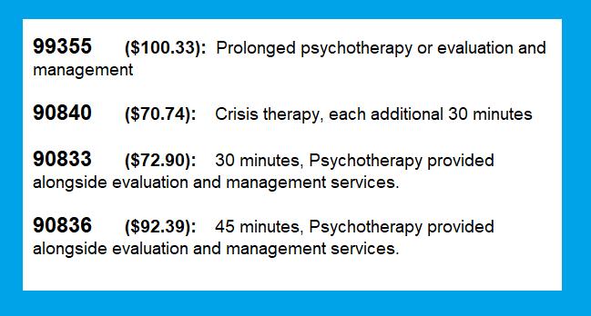 extended sessions reimbursement rates