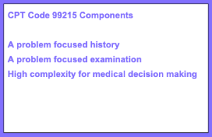 CPT Code 99215 Components