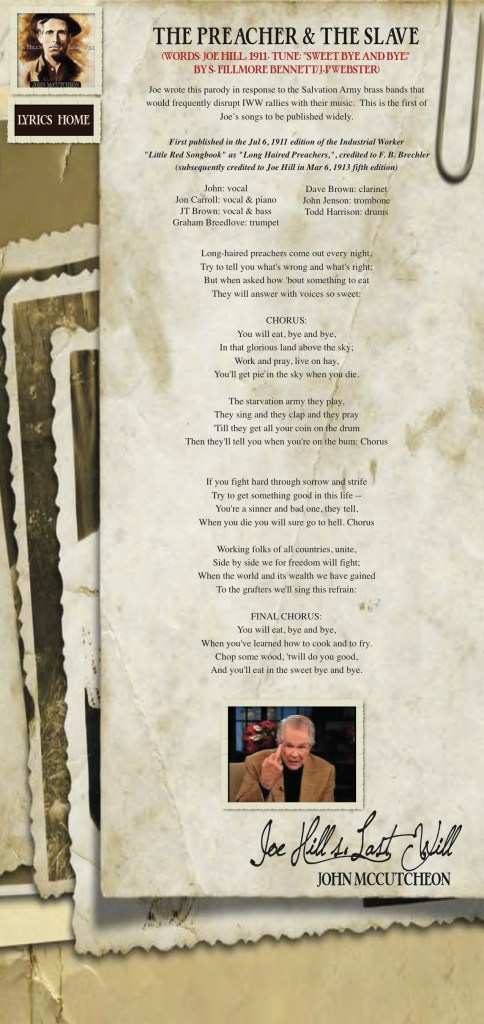 Joe Hills Last Will lyrics
