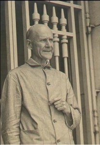 Eugene V. Debs at the Atlanta Federal Penitentiary, 1920. This image was used on a 1920 presidential campaign button
