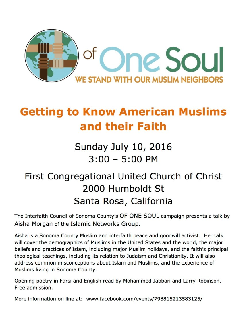 Getting to Know American Muslims flyer - 16G10