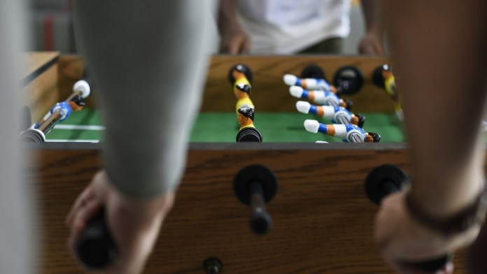 moneyball football concept table football game
