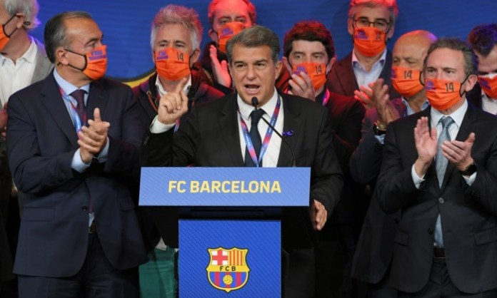 Joan Laporta elected FC Barcelona president for a second time
