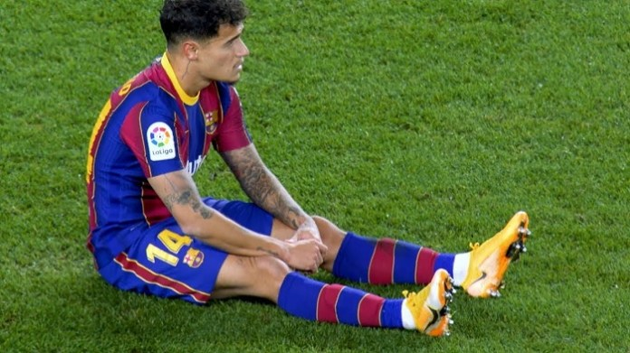 Barcelona's Philippe Coutinho to miss remainder of season after knee surgery