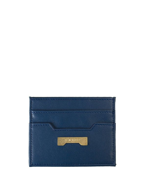 dark blue card holder by Jenah St. in ecofriendly vegan leather affordable luxury
