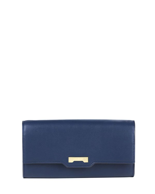 Navy blue Minibag wallet in ecofriendly vegan leather
