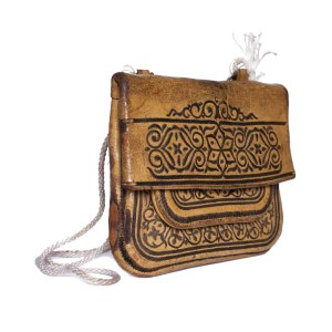Side view ABURY Vintage Leather Berber Bag Suha