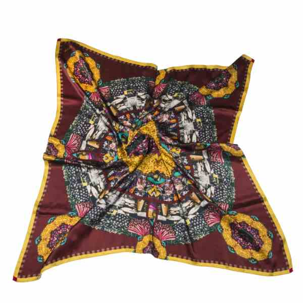 cocccon jaipur colors of india scarf - dark brown colour shades