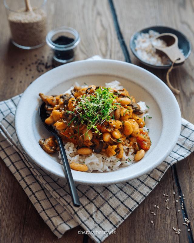 mittagessen, Abendessen, rezept, lunch, dinner, rice, low carb, vegan, simple, quick, einfach, rice, reis, high protein, proteinreich, gesund, healthy