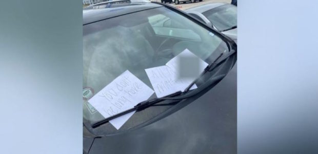 Black student horrified at racist notes left on his car – the police says he wrote them himself