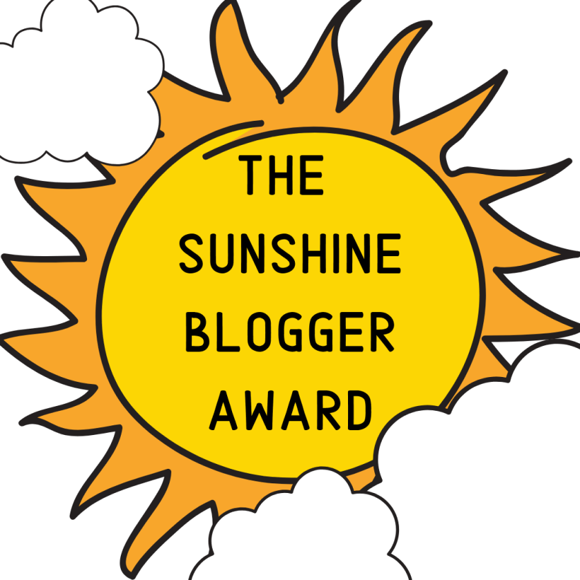 sunshine blogger award with a hint of clouds