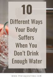 10 Different Ways Your Body Suffers When You Don't Drink Enough Water. Pinterest