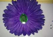 diy monday silk flower hair bows