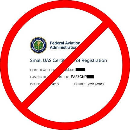 Drone Registry Appeal-FAA's Drone Registration is Against the Law