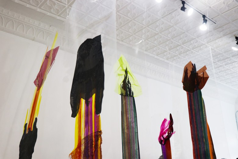 Installation shot of OOOze, curated by Angie Seykora