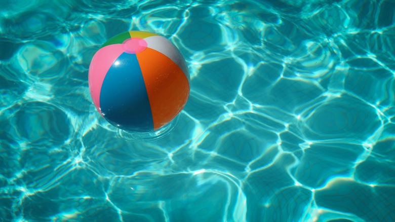 Beachball in pool