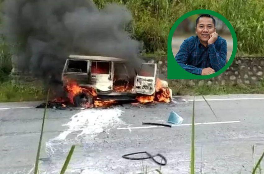 Meghalaya Ex-CM's Son Burnt Alive; An assistant professor burnt alive in a tragic car accident