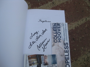 Hopeless by Colleen Hoover signed