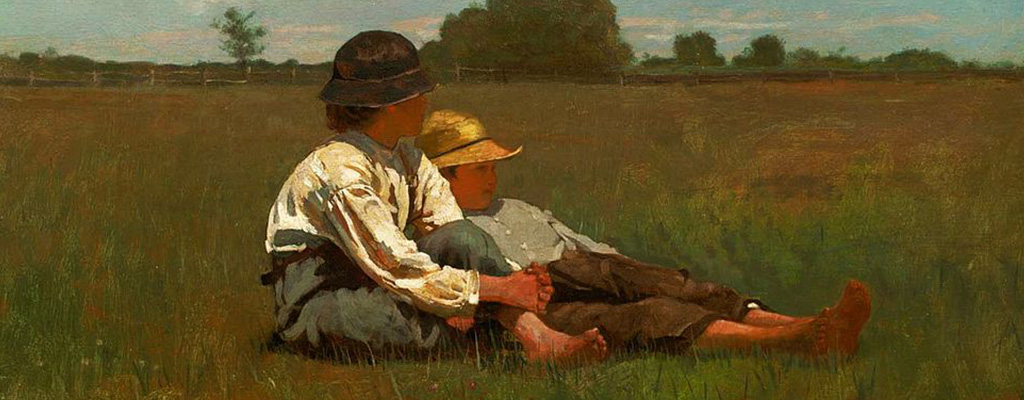 Winslow Homer - Boys in a Pasture at Boston Museum of Fine Arts