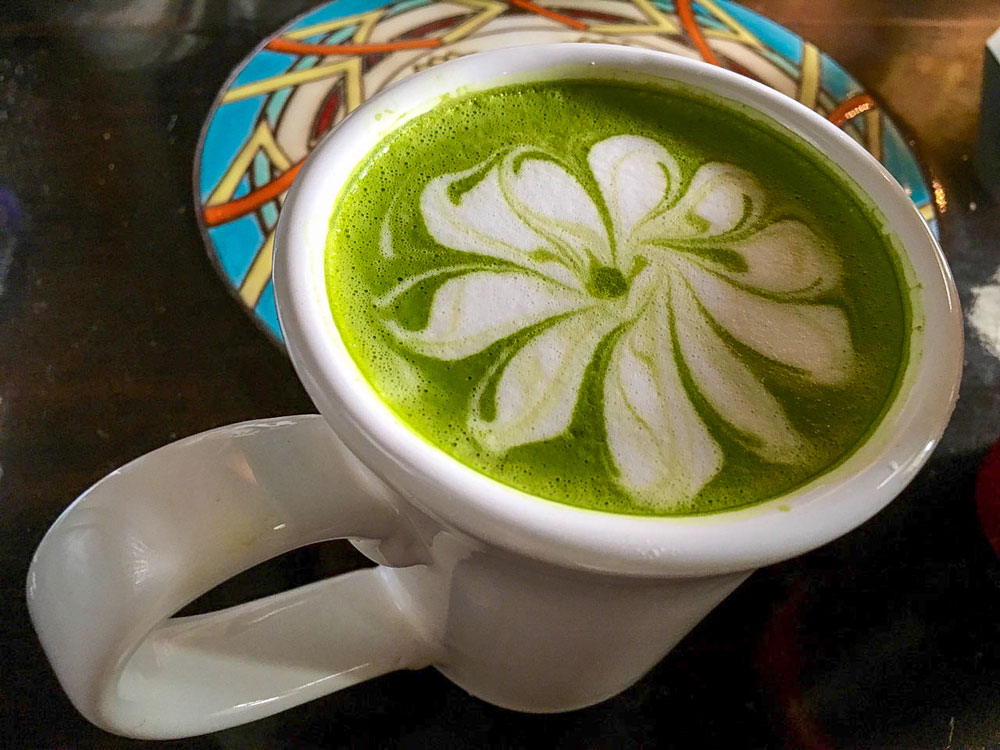 thereafterish California Diaries 06 lost vlog thumbnail green tea matcha latte