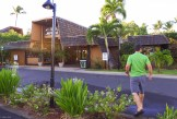 molokai travel, our hotel, Hotel Molokai and young man walking into hotel
