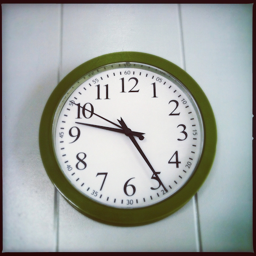 Jan Photo a Day, Instagram, Green clock