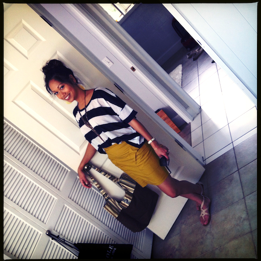 Jan Photo a Day, What I Wore, OOTD, Citron Pencil Skirt