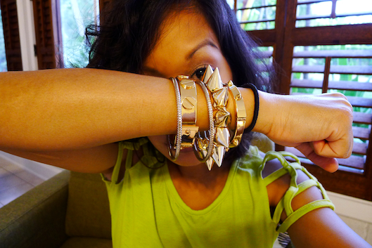 Spike Rings, Hawaii Street Style, Armswag, Spike Bracelet
