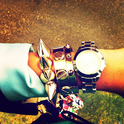 Gold Arm Swag, Gold Arm Candy, Gold Arm Party, Spike Bracelet