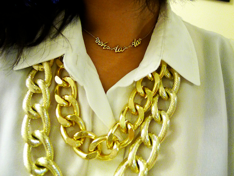 thereafterish, OOTD, HRH Collection, HRH Cuff Necklace, kate spade ooh lala necklace