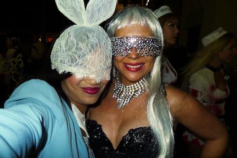 thereafterish, Aloha Tower Halloween Party, Lady Gaga White Rabbit Costume, Lady Gaga Costume