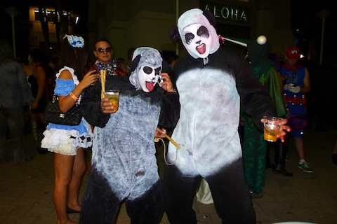 thereafterish, Aloha Tower Halloween Party, Kung Fu Panda Costume