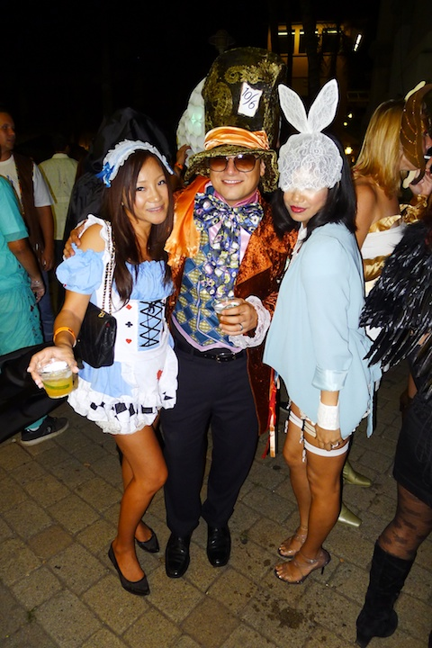 thereafterish, Aloha Tower Halloween Party, lady gaga white rabbit halloween costume, alice in wonderland costumes