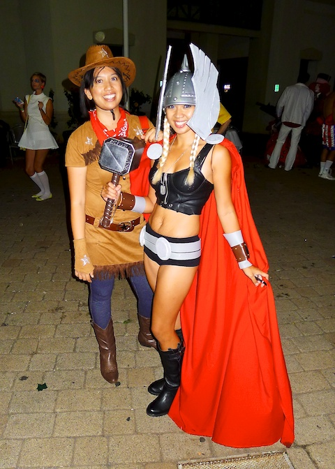 thereafterish, Aloha Tower Halloween Party, Girl Thor Costume, Cowgirl Costume