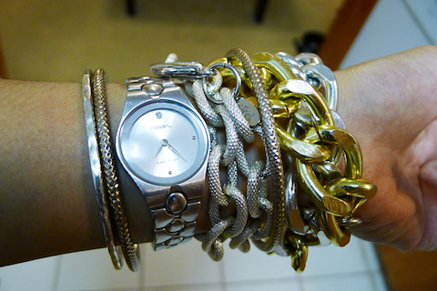 thereafterish, ootd, hrh collection, hrh ombre bracelet, hrh jewelry, arm party